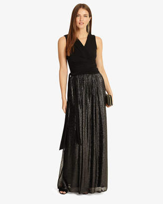Phase Eight Jean Wrap Pleated Maxi Dress