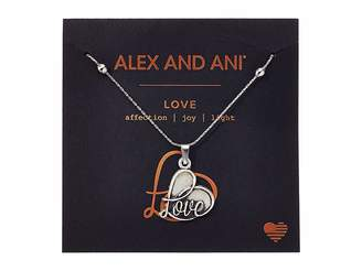 Alex and Ani Path of Symbols - Love IV Swarovski(r) Expandable Necklace w/ Swarovski(r) Crystals