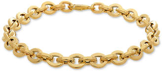 Italian Gold Rolo Link Bracelet in 10k Gold