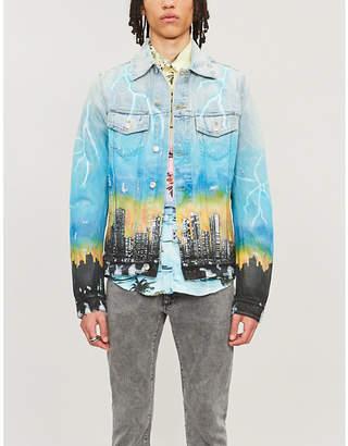 Amiri Hollywood-print denim jacket