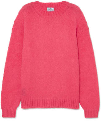 Prada Oversized Mohair-blend Sweater - Pink