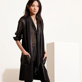 Ralph Lauren Faux Leather–Trim Vest $198 thestylecure.com