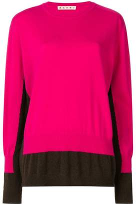 Marni colour-block fitted sweater