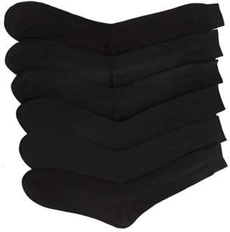 Fashionable Beauty America Men's Solid-Color Trouser Socks (12-Pack) - Black