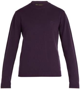 Versace Medusa-embroidered wool sweater