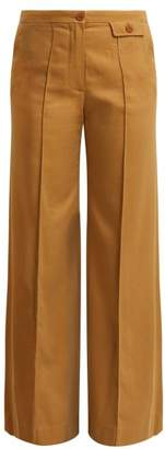 See by Chloe City Twill Wide Leg Trousers - Womens - Camel