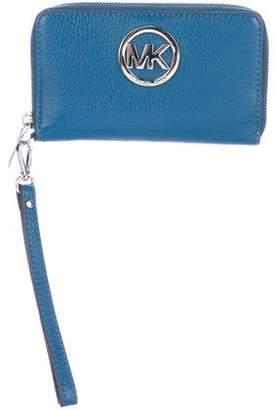 MICHAEL Michael Kors Leather Logo Zip-Around Wallet