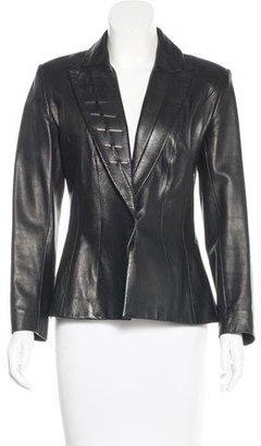 Mugler Embellished Leather Blazer $200 thestylecure.com
