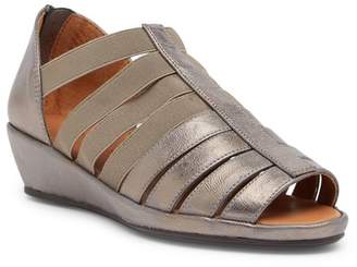 Kenneth Cole Gentle Souls by Lana Leather Cage Wedge Sandal