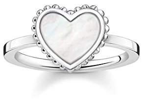 Thomas Sabo Women's 925 Sterling Silver Glam and Soul Heart Ring - Size Q1/2 TR2187-029-14-58