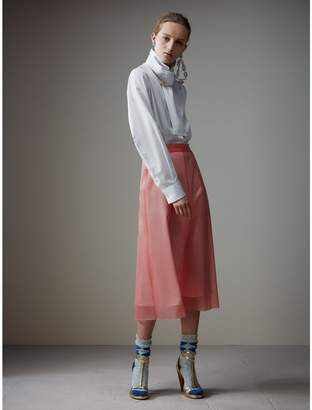 Burberry Silk-lined Plastic A-line Skirt