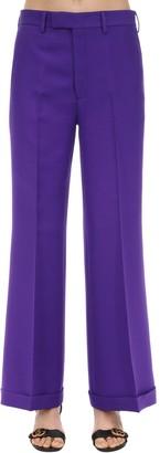 Gucci CADY CREPE WOOL & SILK FLARED PANTS