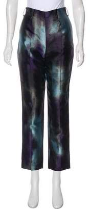 Rochas Silk Blend High-Rise Pants