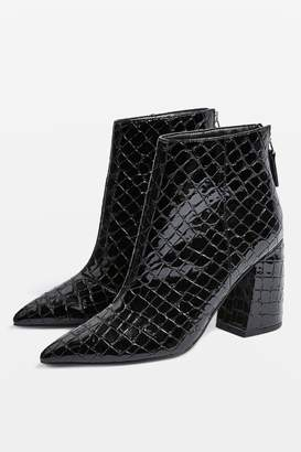 Topshop Womens Houston Ankle Boots - Black