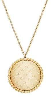 Lord & Taylor 14K Yellow Gold Round Pendant Necklace