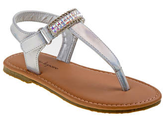 Josmo Girls' Silver Holographic Sandal