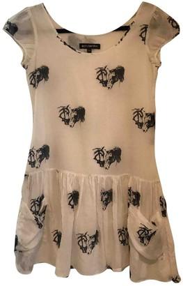 American Retro White Cotton Dress for Women
