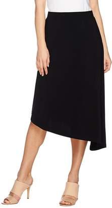 Susan Graver Liquid Knit Comfort Waist Asymmetrical Skirt