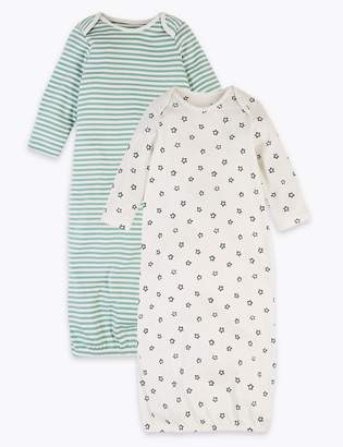 Marks and Spencer 2 Pack Cotton Striped & Star Sleeping Bags