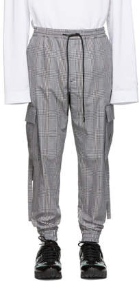 Juun.J Grey Check Cargo Pants