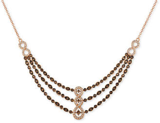 LeVian Le Vian Chocolatier Diamond Fancy Collar Necklace (1-3/8 ct. t.w.) in 14k Rose Gold