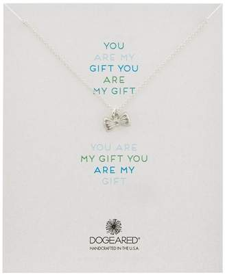 """Dogeared You Are My Gift Ribbon Bow Necklace - Sterling Silver, 18"""""""