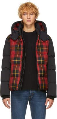Mackage Red and Black Down Plaid Rylan Jacket