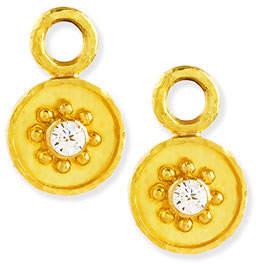 Elizabeth Locke 19k Gold Diamond Disc Earring Pendants bYGfEZSV