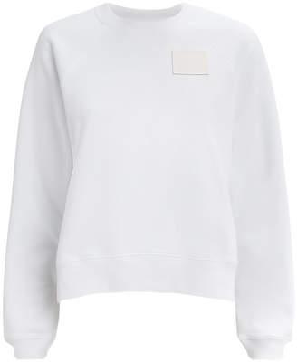 Proenza Schouler Pswl Shrunken White Sweatshirt