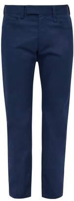 Marni Straight Leg Twill Chino Trousers - Mens - Navy
