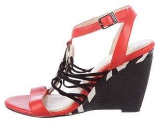 Calvin Klein Leather Wedge Sandals
