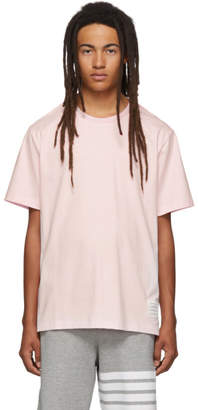 Thom Browne Pink Relaxed Side Slit T-Shirt
