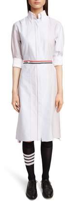 Thom Browne Stripe Belt Oxford Shirtdress