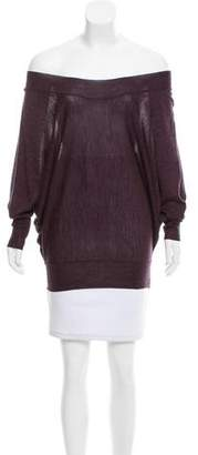 Robert Rodriguez Off-the-Shoulder Merino Wool Sweater