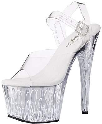 Pleaser USA Women's ADO708UVL/C/C-NW Dress Sandal