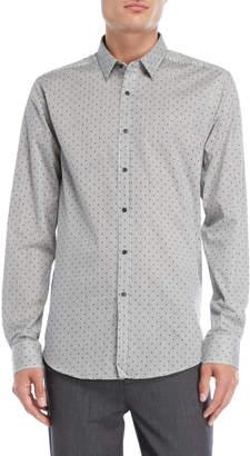 Gaudi' Gaudi Dot Stripe Sport Shirt