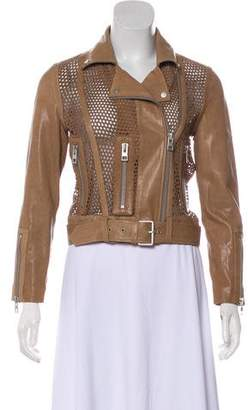 AllSaints Suede Leather-Trimmed Jacket