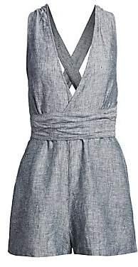 Onia Women's Amelia Linen Crisscross Romper