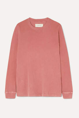 The Great The Long Sleeve Cotton-jersey Top - Pastel pink