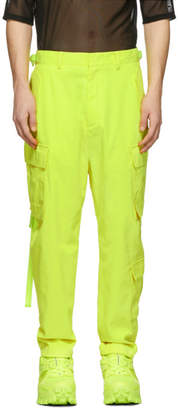 Juun.J Yellow Cropped Cargo Pants