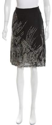 Valentino Sequined Silk Skirt