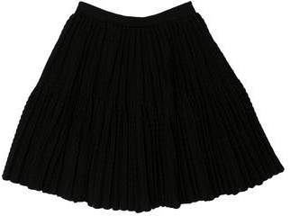 Alaia Pleated Wool-Blend Skirt w/ Tags