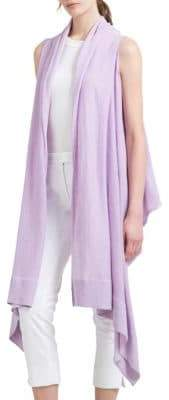Donna Karan Long Linen Open Cardigan