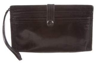 Bottega Veneta Leather Wristlet Wallet Black Leather Wristlet Wallet