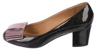 Lanvin Bow-Accented Patent Leather Pumps