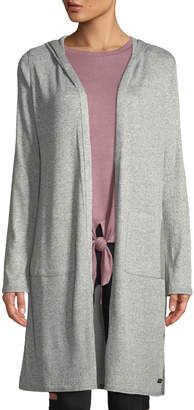 Marc Ny Performance Hooded Two-Pocket Ribbed Elongated Cardigan