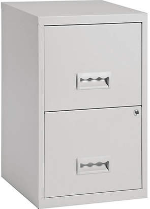 Pierre Henry 2 Drawer Filing Cabinet - Grey