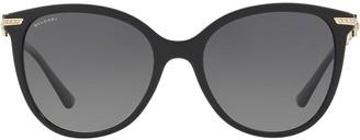Bulgari oversized round frame sunglasses