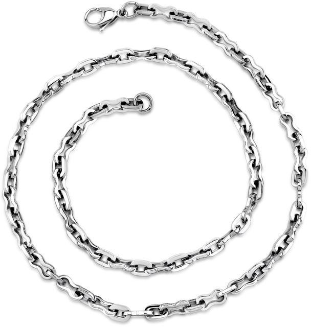 Ice Polished Stainless Steel Figure 8 Fancy Link Chain Necklace