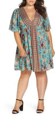 Angie Floral Swing Dress